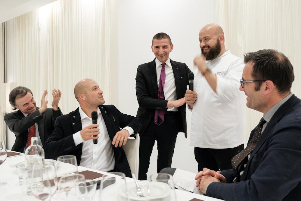 Degustazione Romano Dal Farno - relatori e chef