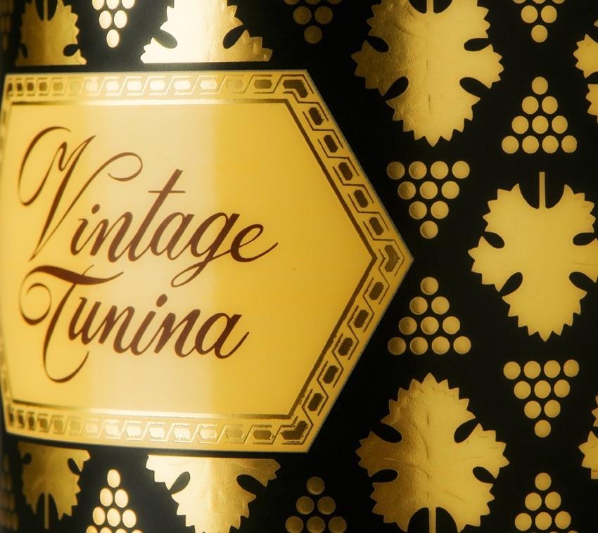Etichetta Vintage Tunina