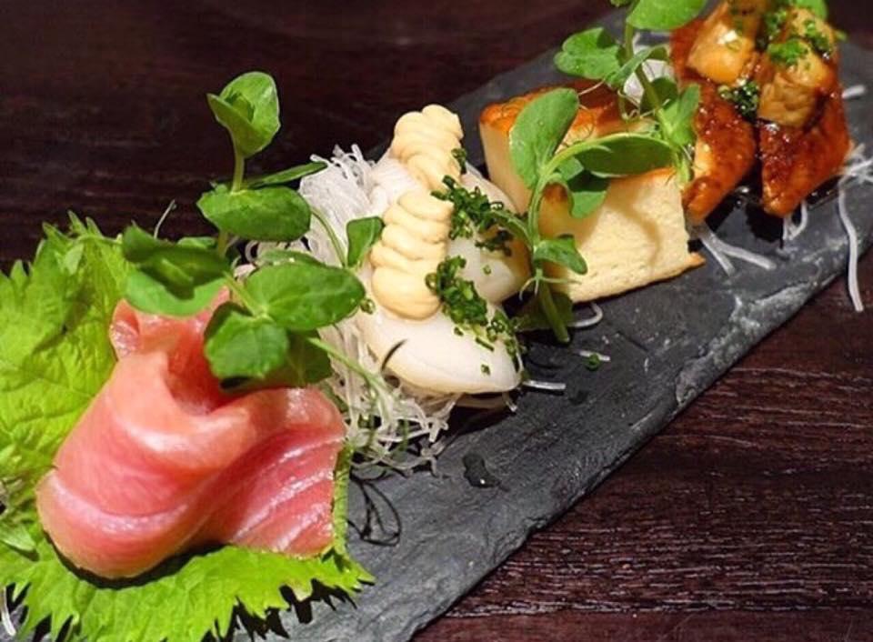 Dinings -Sashimi Misto con Foie Gras e Mousse Di Capesante