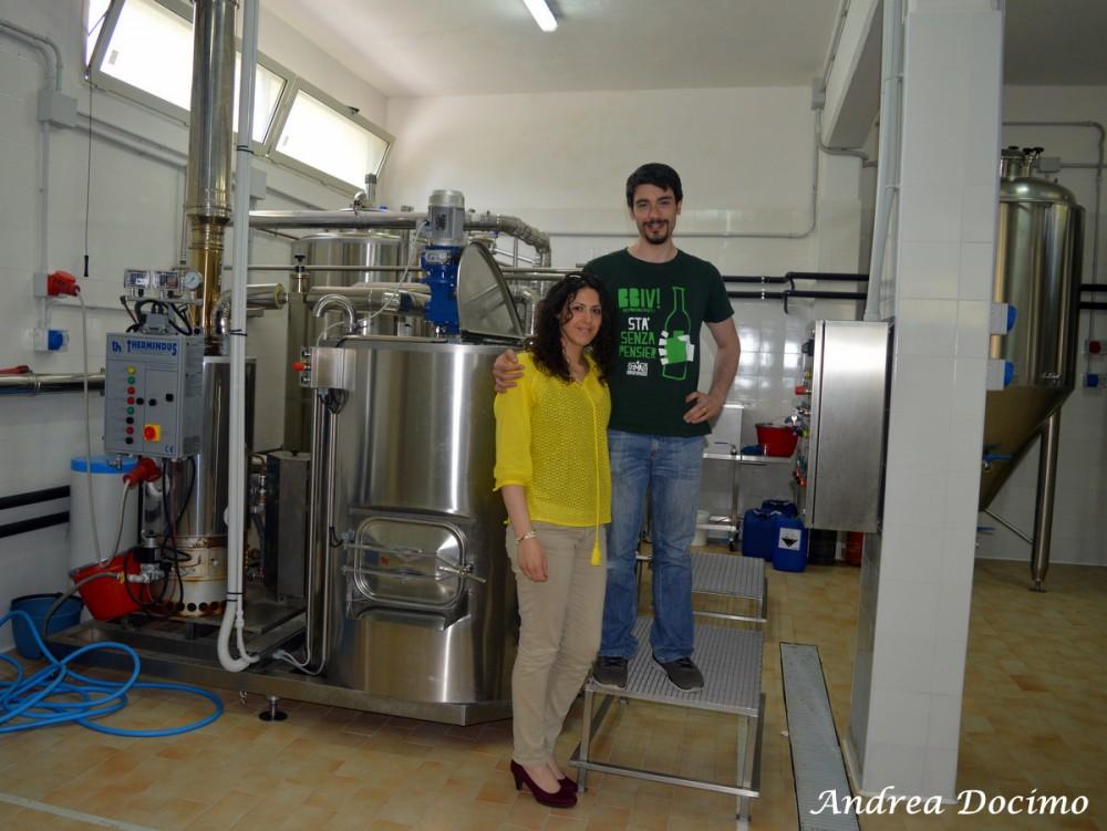 Birrificio Stimalti a Casale di Carinola CE. Ferdinando Lonardo e Giulia Ullucci