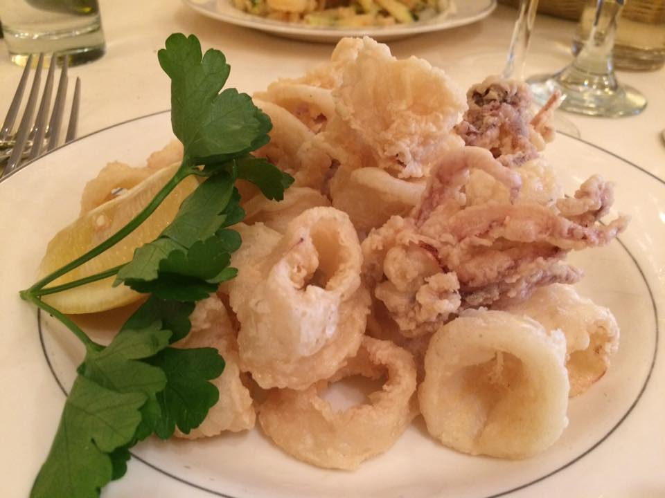 Il Riccio, frittura di calamari