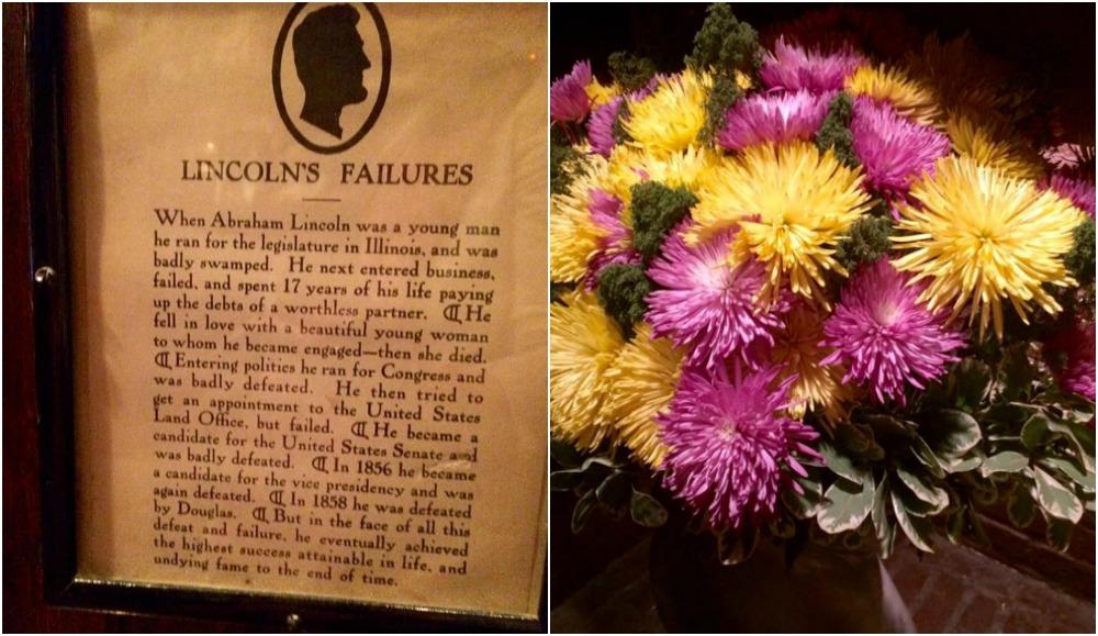 Keens, stampa sui fallimenti di Lincoln e fiori freschi sul camino