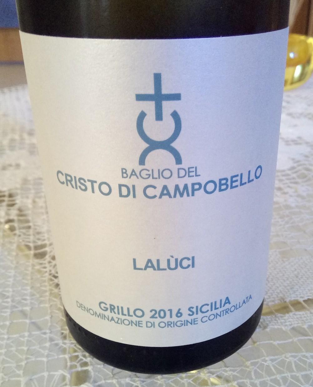 Laluci Grillo Sicilia Doc 2016 Baglio del Cristo di Campobello