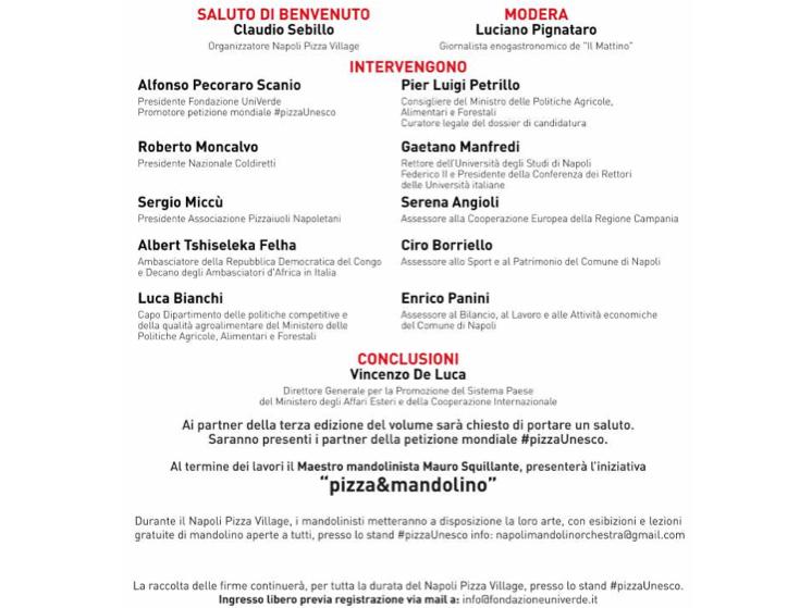 L'arte dei Pizzaiuoli napoletani patrimonio Unesco, interventi