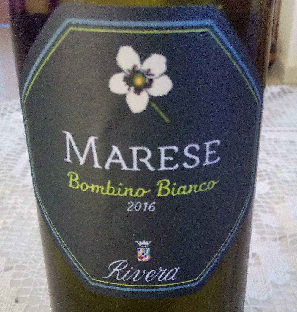 Marese Bombino Bianco Castel del Monte Doc 2016 Secondo classificato a Radici del Sud 2017