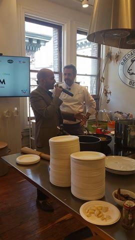 Massimo Sola, chef di Sola Pasta Bar, introdotto da Paolo Vizzari