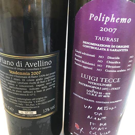 Pietramara Fiano e Poliphemo Taurasi 2007