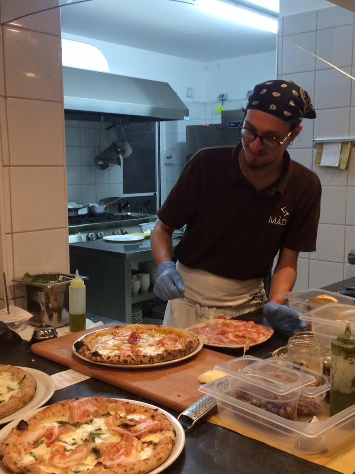 Pizzeria Madia, zona farciture