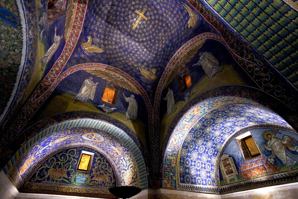 Ravenna, Mausoleo di Galla Placidia, cielo stellato