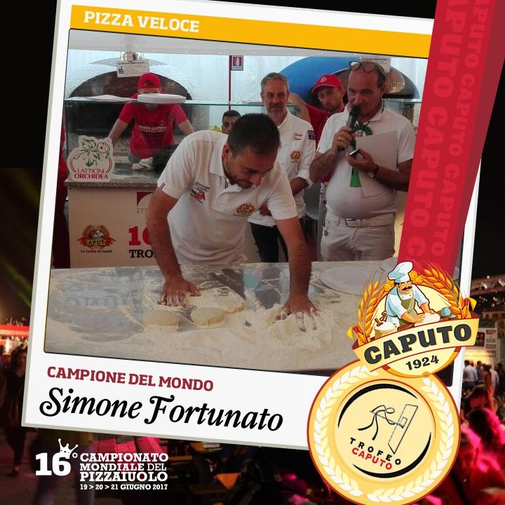 Simone Fortunato, campione pizza veloce