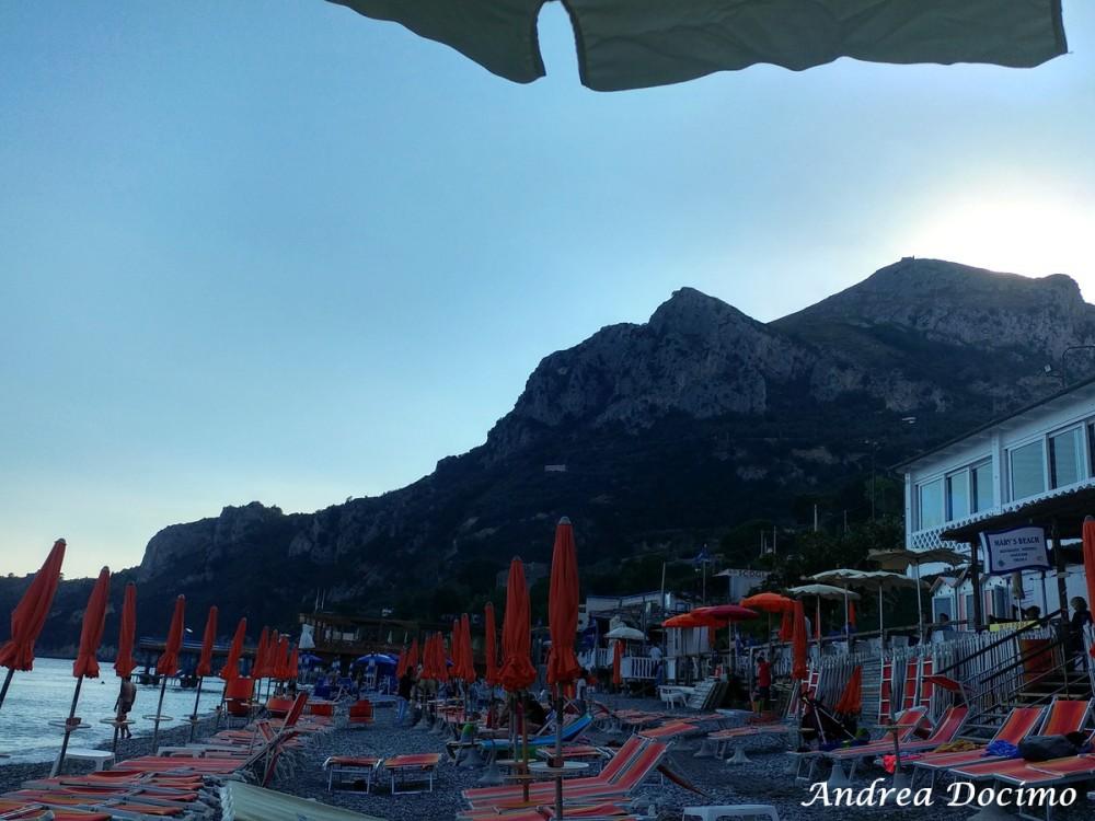 Taverna del Capitano a Marina del Cantone, Nerano NA. Il tramonto