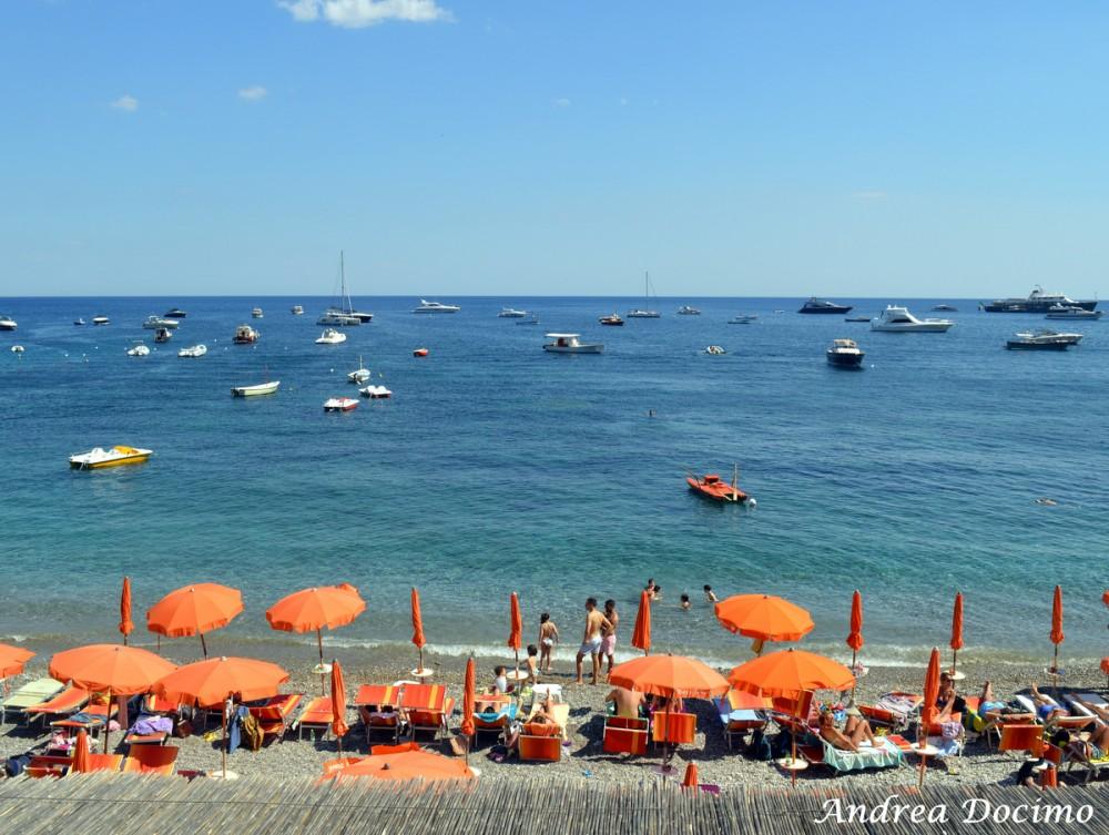 Taverna del Capitano a Marina del Cantone, Nerano NA. La spiaggia e il mare