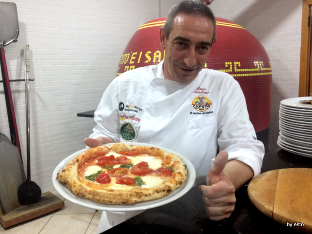 Totò e i Sapori Mauro Autolitano pizza bufala e pomodoro frescoi