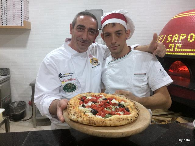 Totò e i Sapori Mauro e Antonio Autolitano pizza baccalà olive e capperi e pomodoro