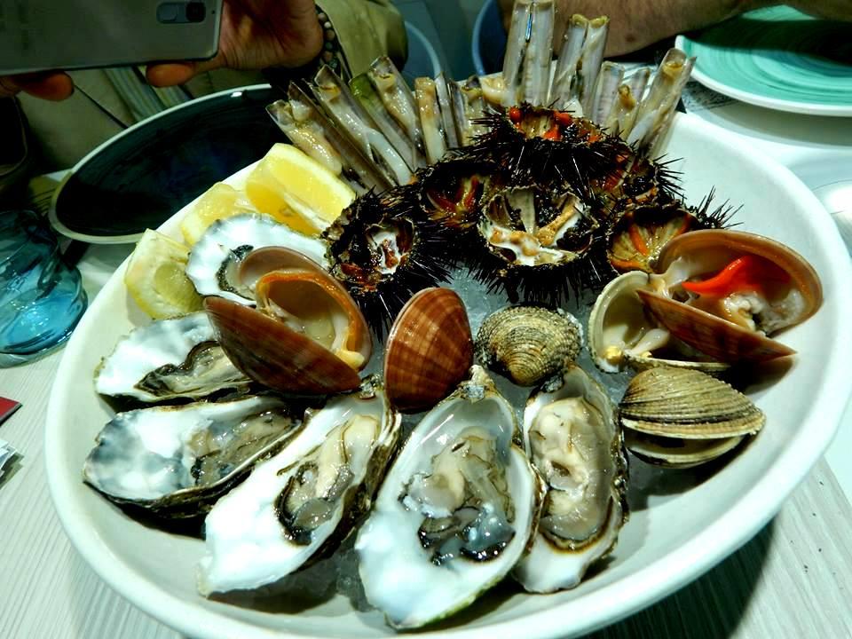 Triglia - Crudo di frutti di mare