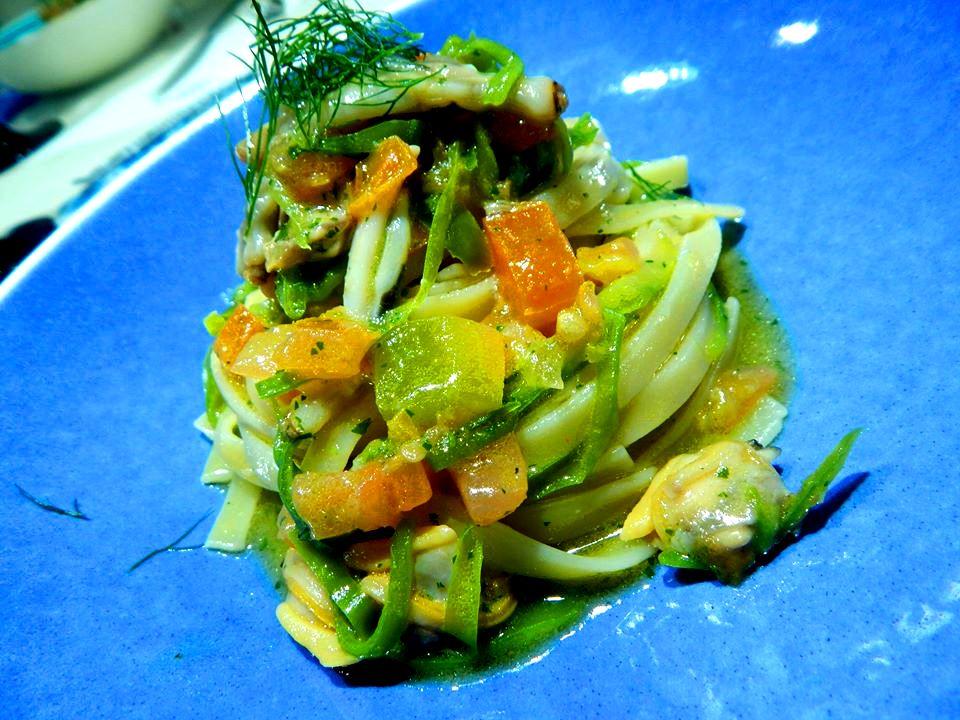 Triglia - Fettuccia Armando, peperoncini verdi e cozze