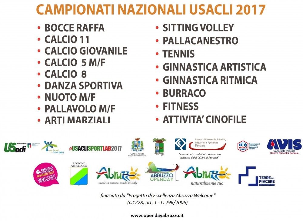 Sport in Tour 2017