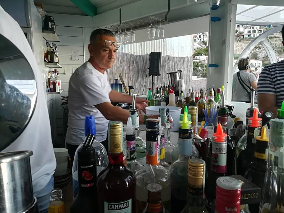 Acqua Pazza - Il reparto destinato alla preparazione dei drink
