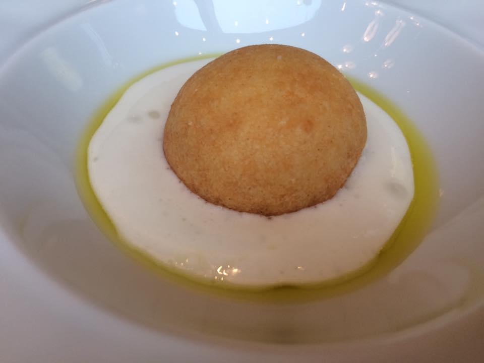 Per Se, pre dessert formaggio e olio di oliva