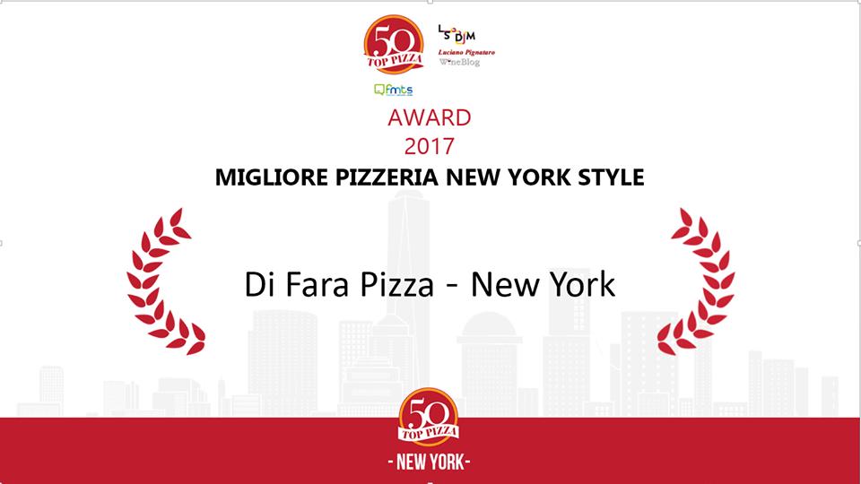 La migliore pizzerie New York Style