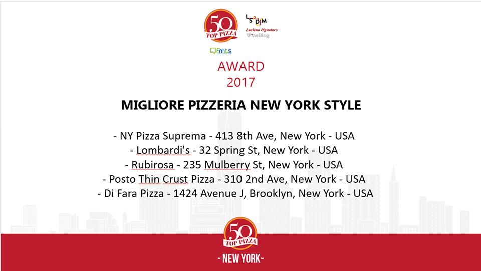 Le migliori 5 pizzerie New York Style