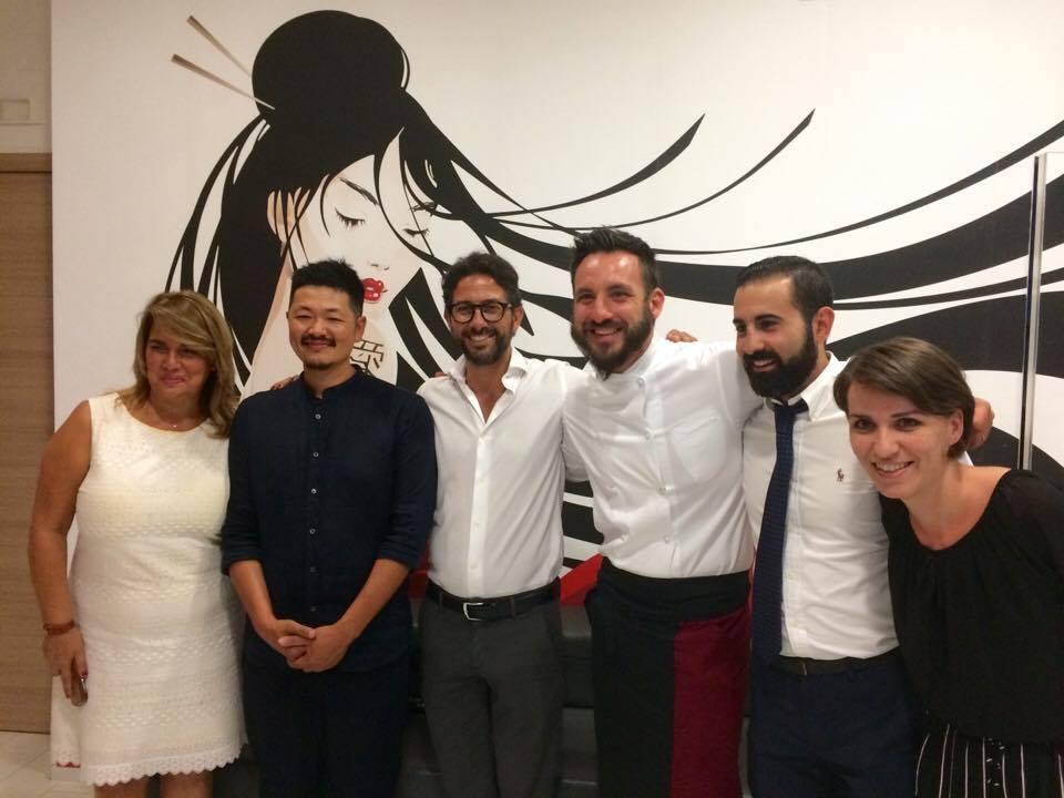 Chef Hiro, Enrico Schettino e Il Team Giappo