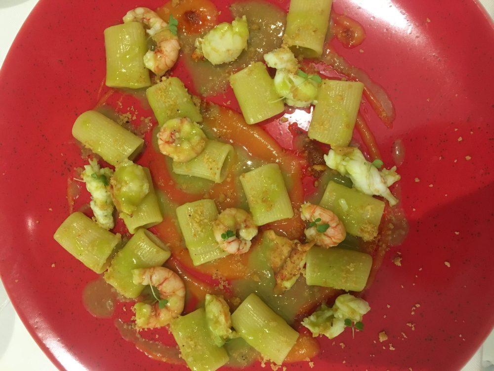 Il gambero rosso - Mezze maniche ai crostacei, zucca e nduja