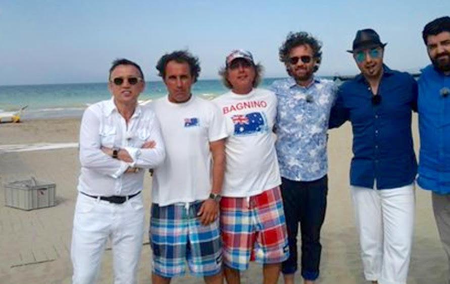 Il mio amico Carlo...della Zona 74, insieme a suo fratello Andrea e ai giudici di Masterchef, in occasione dell'esterna girata a Riccione