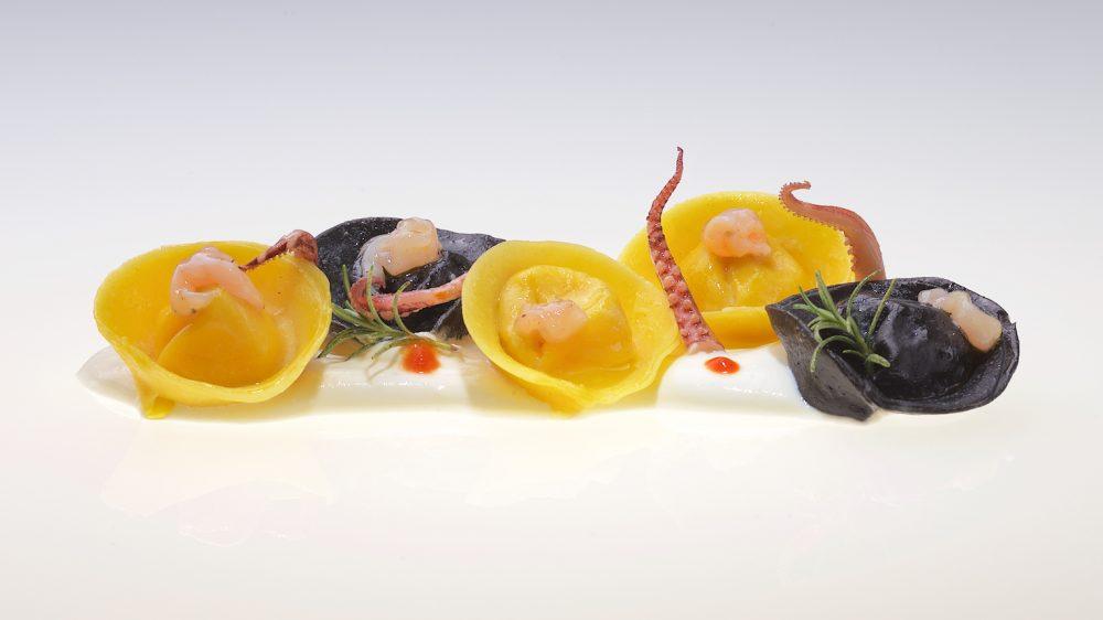 Italian Cuisine World Summit 2017 - Cappellaccio. Totani e Patate