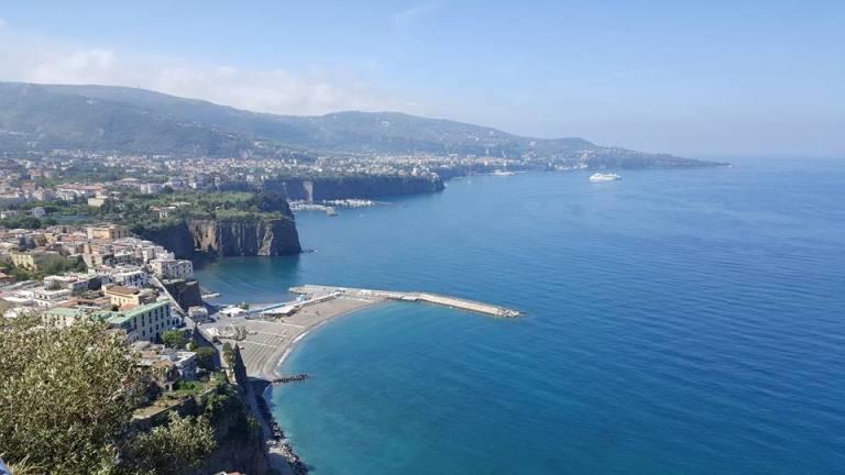 La Penisola Sorrentina vista dalla strada panoramica