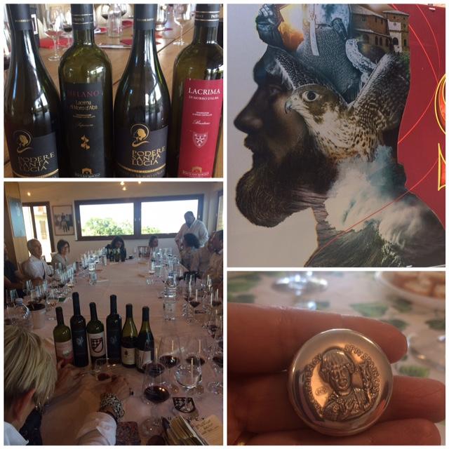 Lacrima di Morro D'Alba Rubbiano di Luigi Giusti, Terre dei Goti di Mancinelli, i vini dell'Azienda Vicari e Saro', Mariotti Campi