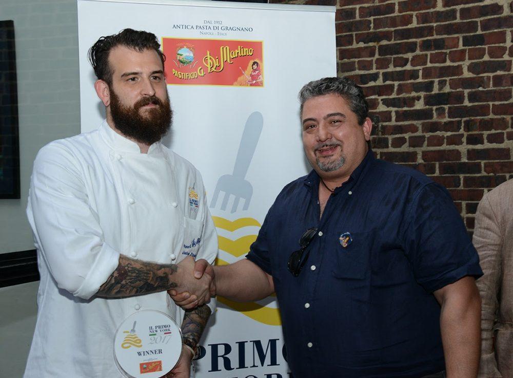 Lo chef Joshua Pinsky del ristorante Momofuku Nishi di New York con Giuseppe Di Martino, Amministratore Delegato del Gruppo Di Martino