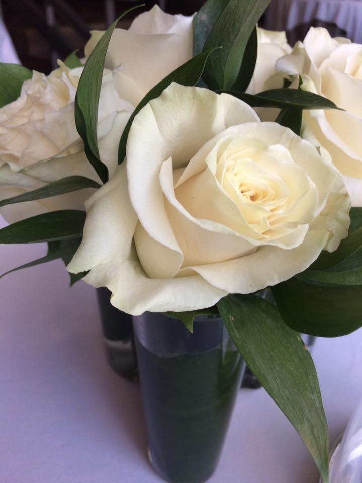 Per Se, rose bianche ai tavoli
