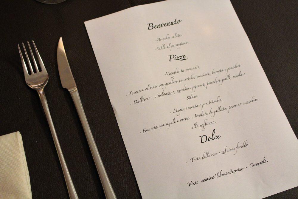 Percorsi di Gusto AQ – il menu'