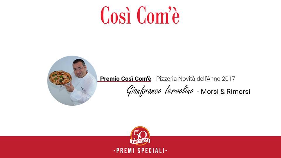 Premio Cosi' Com'e' Pizzeria Novità dell'Anno 2017