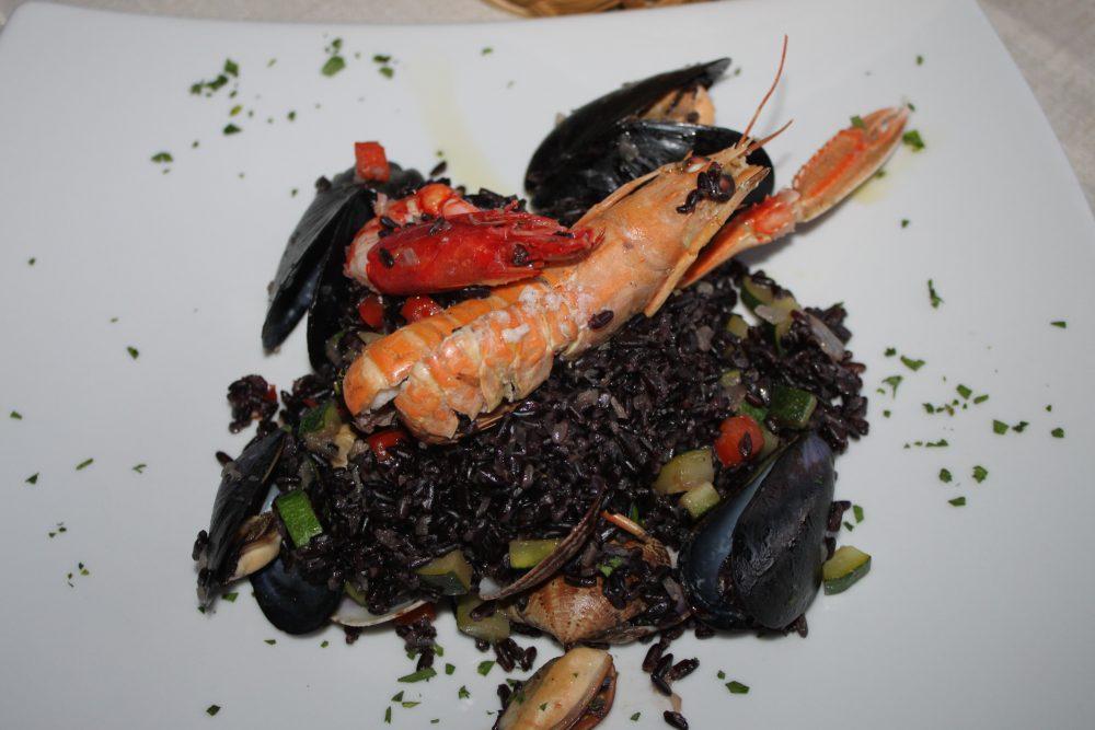 Ristorante Lanterna Rossa - Osteria del Mare, risotto di venere i crostacei, frutti di mare e verdure