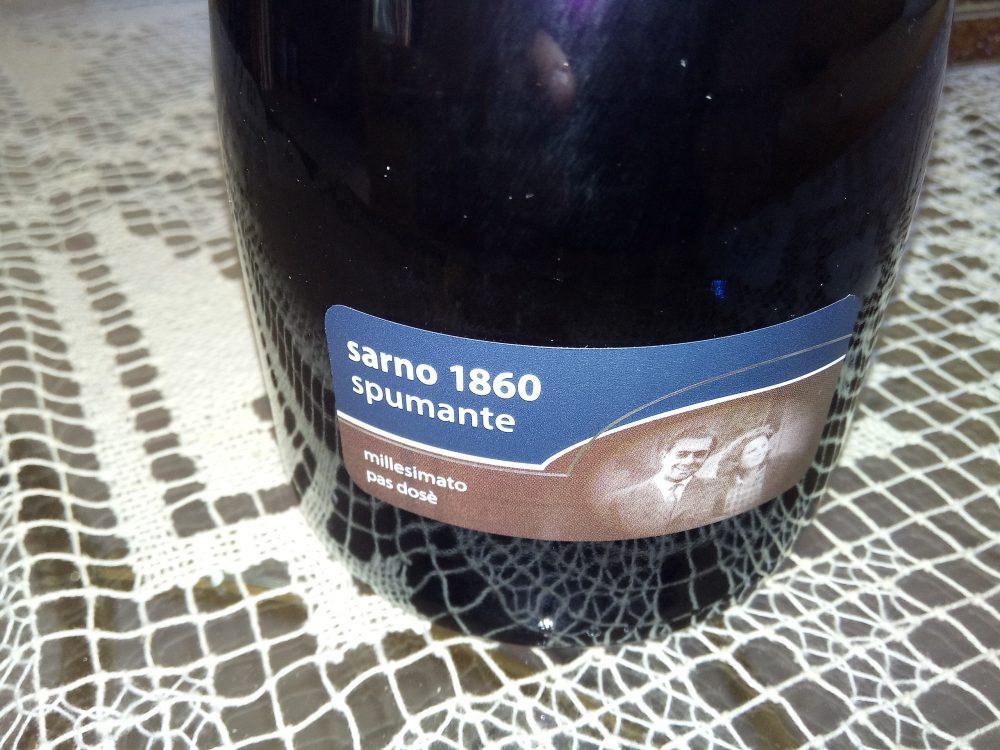 Spumante bianco pas dose' 2015 Sarno 1960 secondo classificato a Radici del Sud 2017