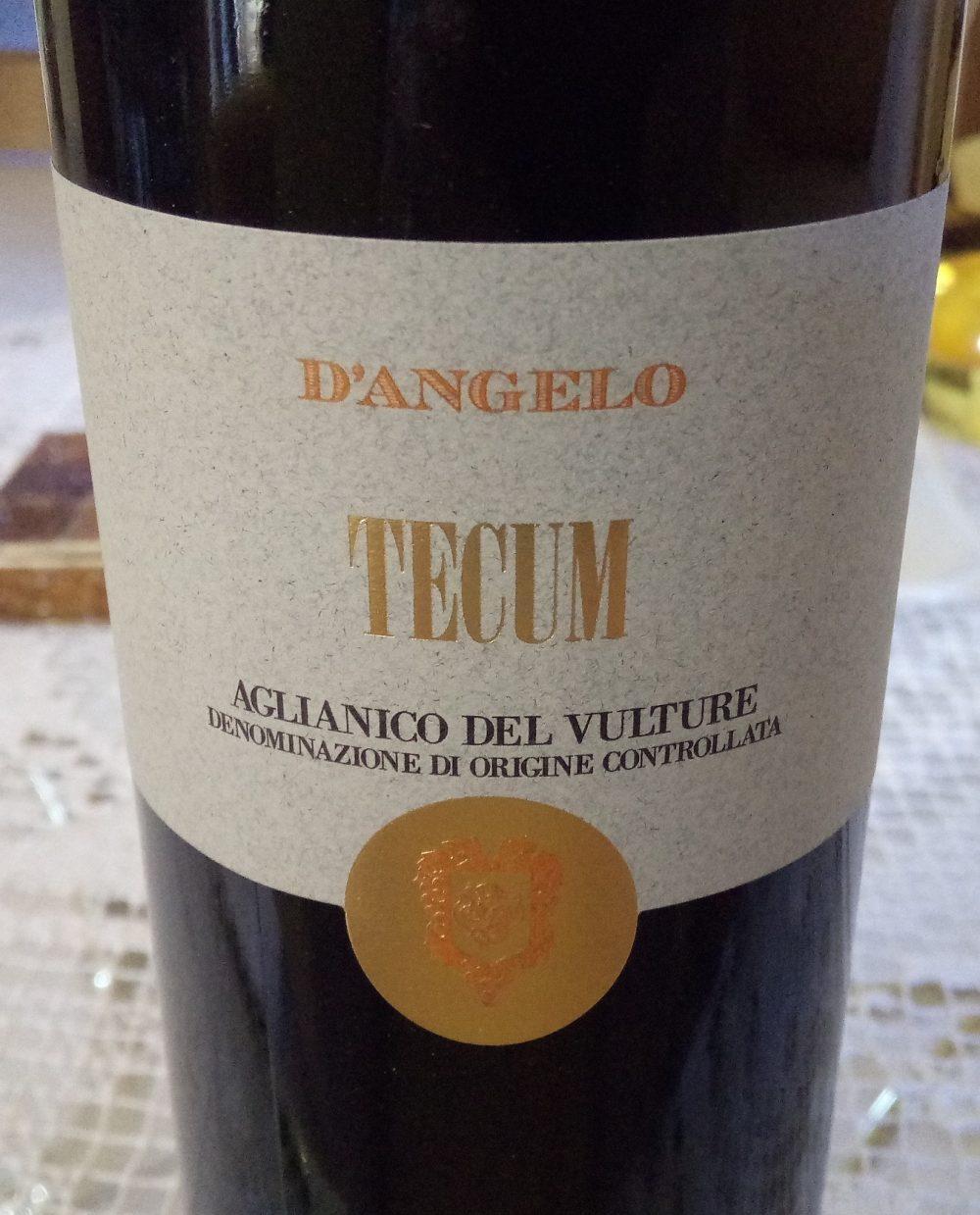 Tecum Aglianico del Vulture Doc 2013 D'Angelo