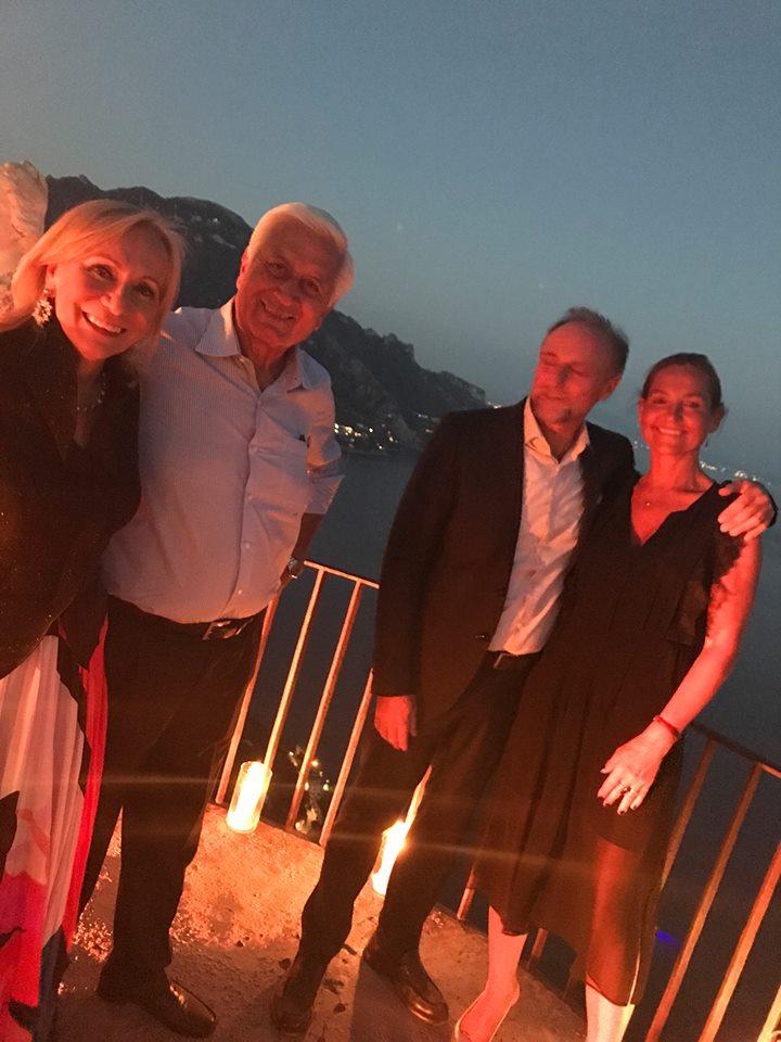 Villa Cimbrone Marilisa Allegrini, Gigi Salerno, Giorgio Vuilleumier e Tiina Erikkson