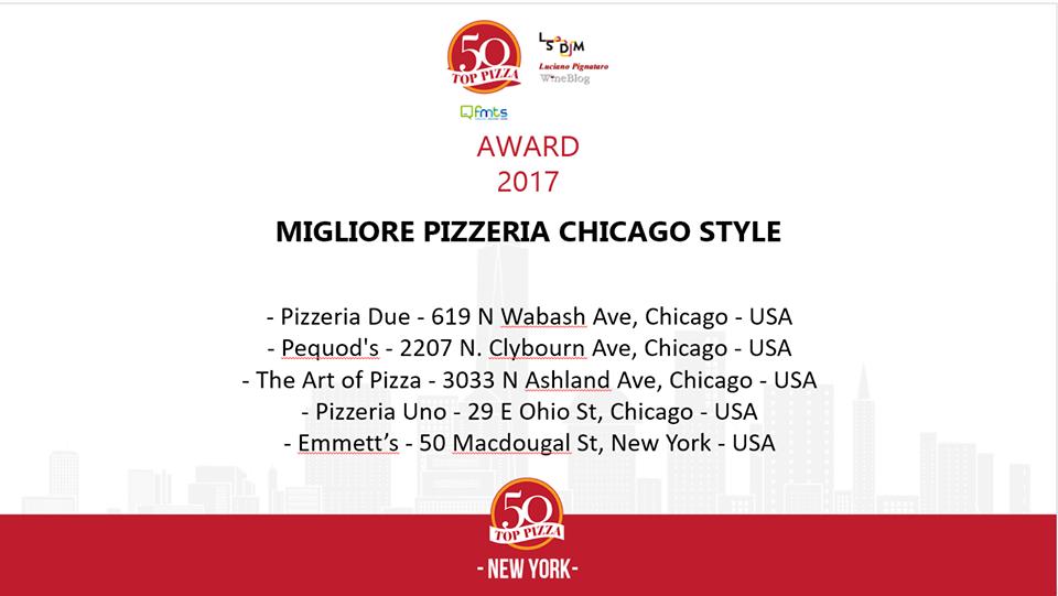 La migliore pizzeria Chicago Style