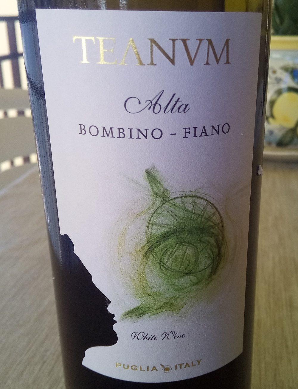 Alta Bombino Fiano Puglia Igp 2016 Teanum