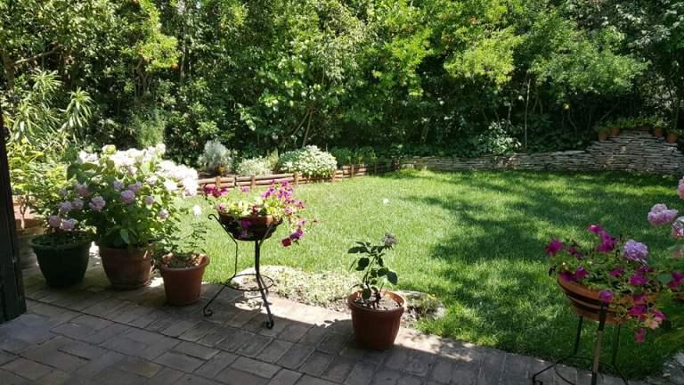 Antica Osteria Marconi, il giardino con le erbe aromatiche