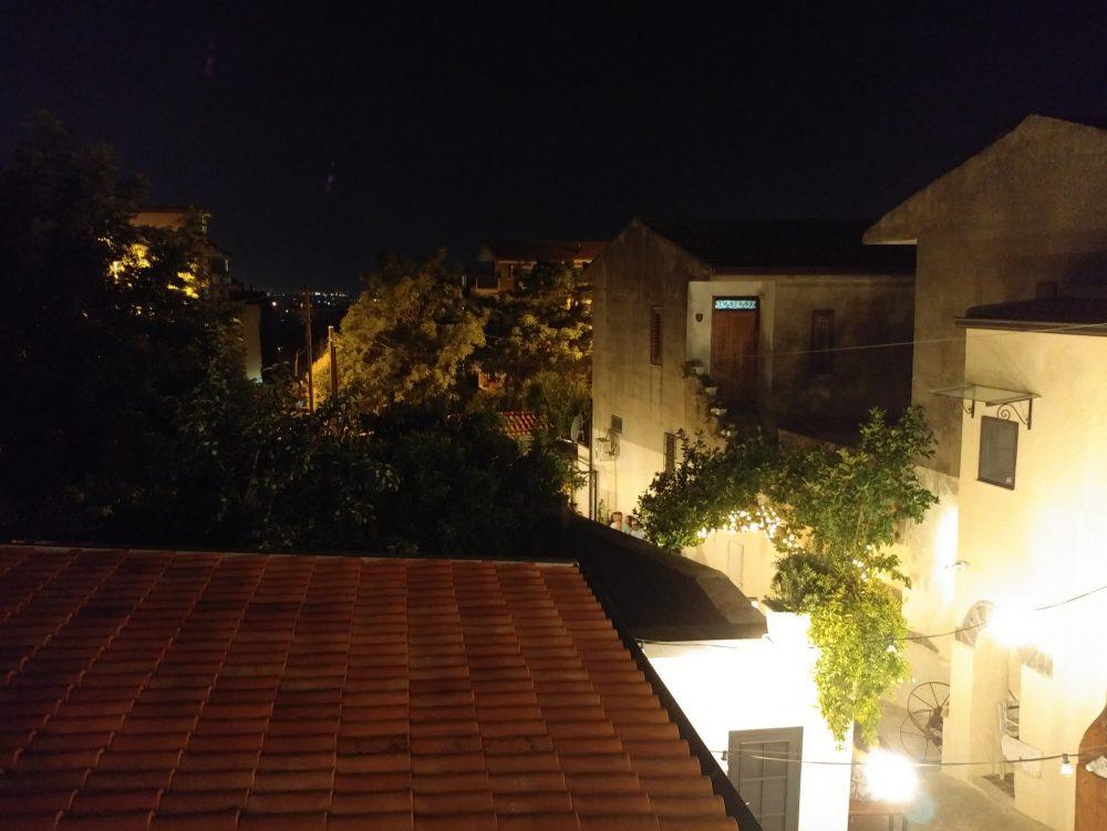 Casa Vitiello a Tuoro. Parte della vista dal terrazzino