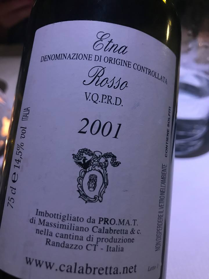 Etna Rosso 2001 Calabretta