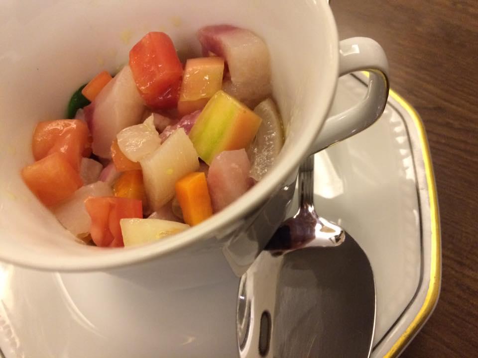 Tripparia - Tartare di verdure e finta ceviche di Trippa