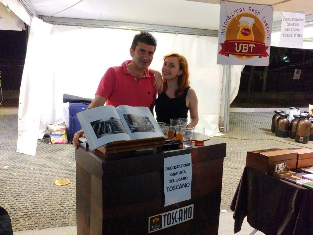 Festa della Birra Artigianale di Baronissi. XX Edizione - Anno 2017. Lo stand del Sigaro Toscano