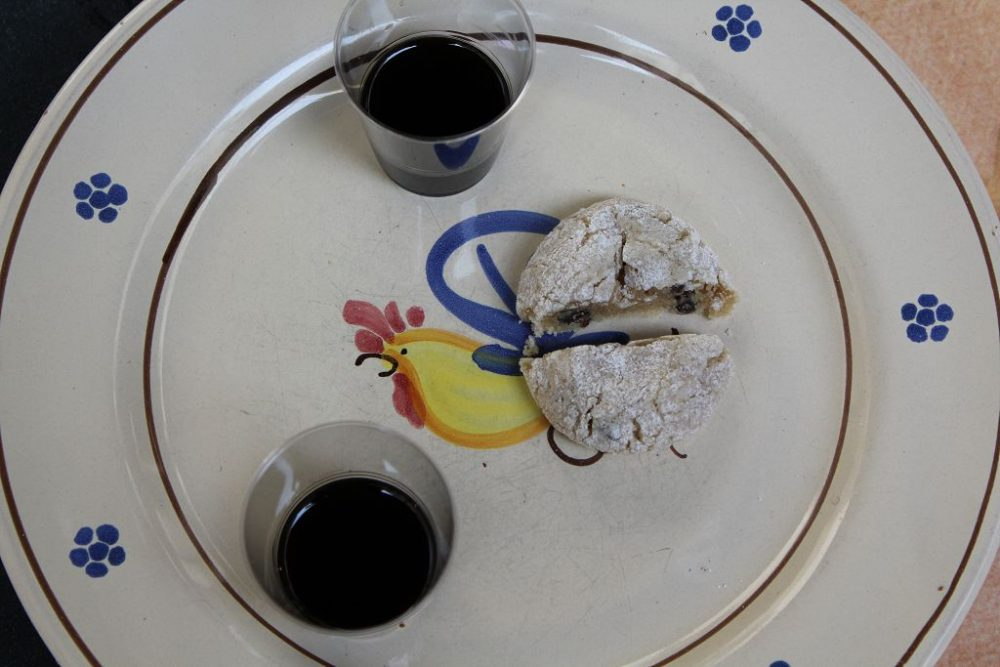 Forno Santa Chiara 1423 - Nocino Padre Peppe e biscotto di marzapane