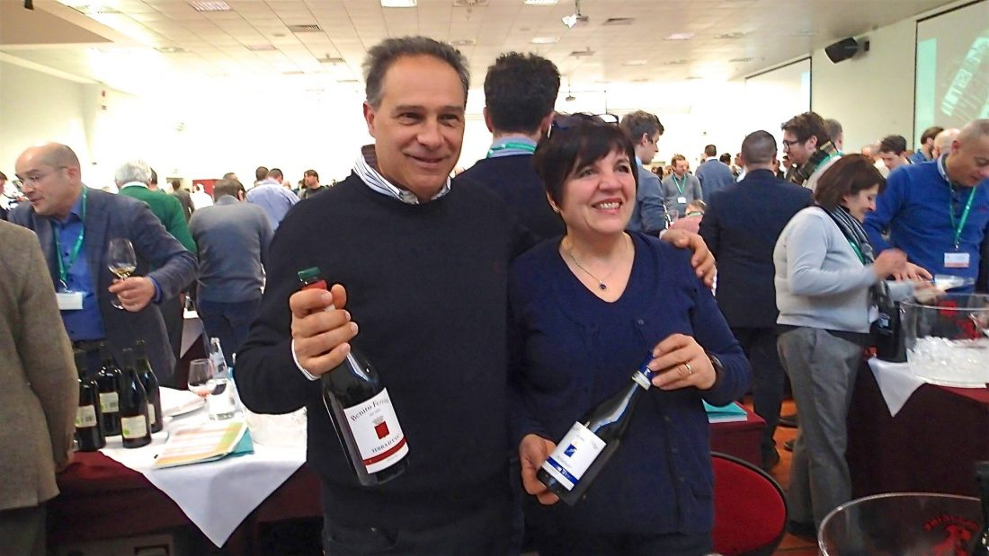 Gabriella Ferrara con il marito Sergio Ambrosino