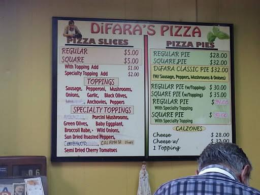 Il menu' - La pizzeria Di Fara