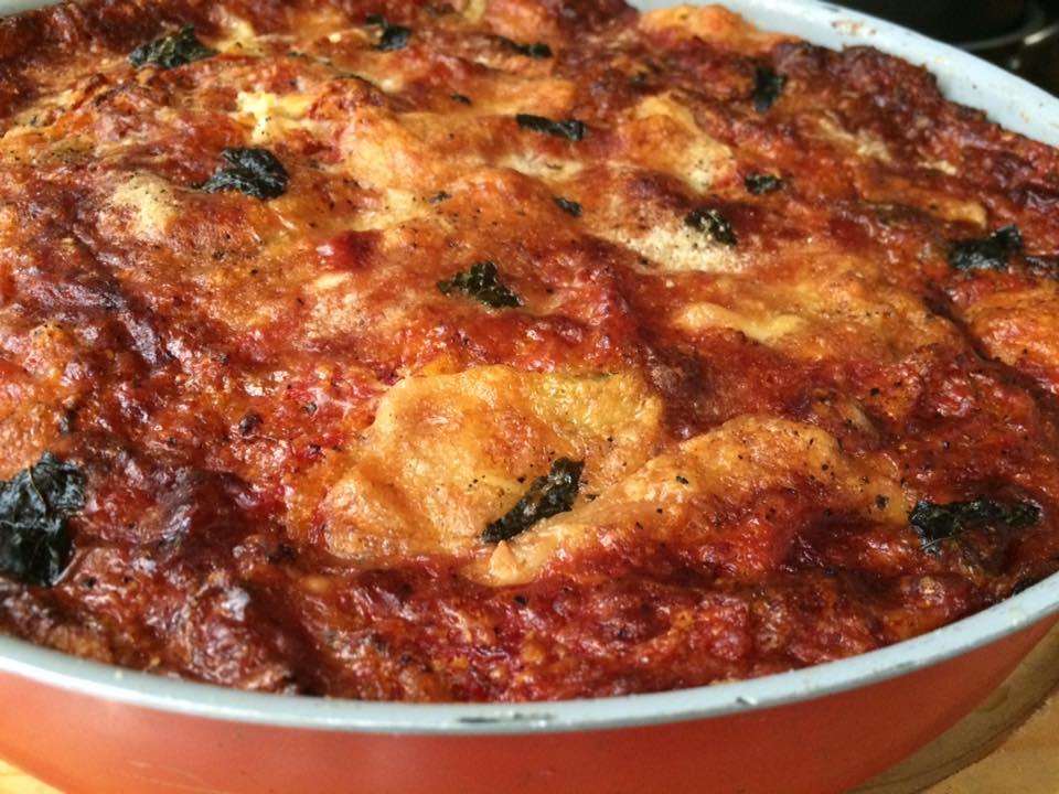 Lasagna vegetariana di pane carasau
